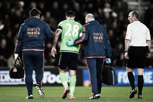 Charlie Austin looks set for a spell on the sidelines after a hamstring injury (photo source: getty)