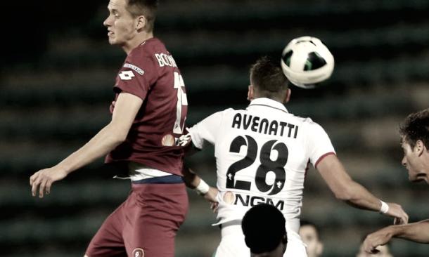 Scontro di gioco tra Ascoli e Ternana | Foto: www.calciomercato.com