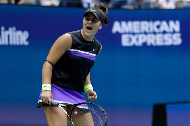 Andreescu during the 2019 US Open: Photo: Adam Hunger/Associated Press