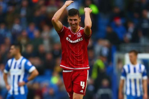 Dani Ayala celebrates scoring in Middlesbrough's 3-0 victory over Brighton in December | Photo: Sky Sports