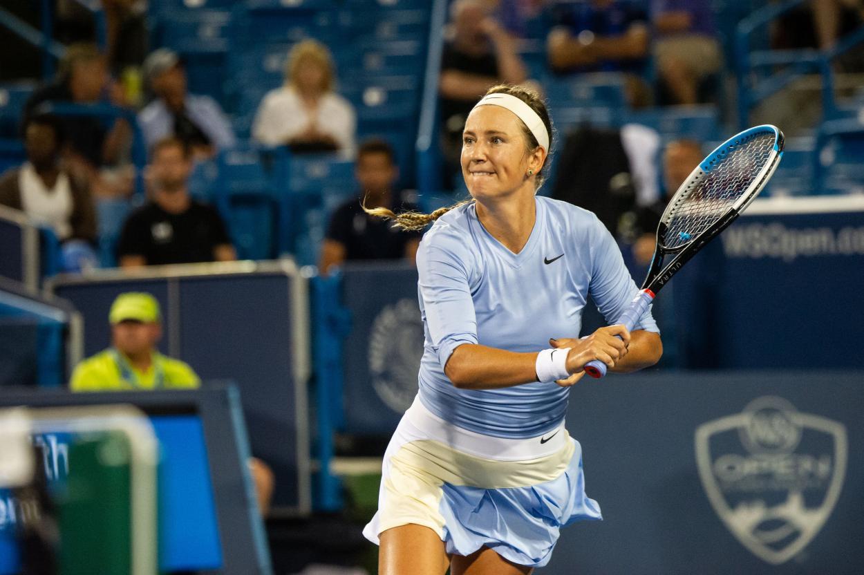 Azarenka venceu edição do torneio disputada em Nova Iorque em 2020 (Foto: Western & Southern Open)