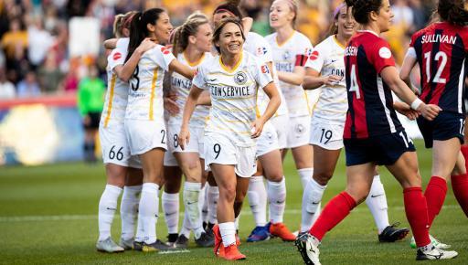 Utah celebrate their goal against the Spirit | Source: rsl.com