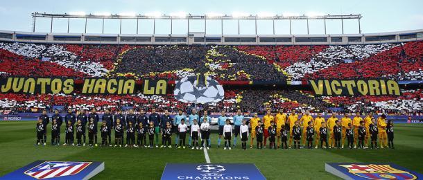 Mosaico del partido Atlético-Barcelona   Foto: Atlético de Madrid