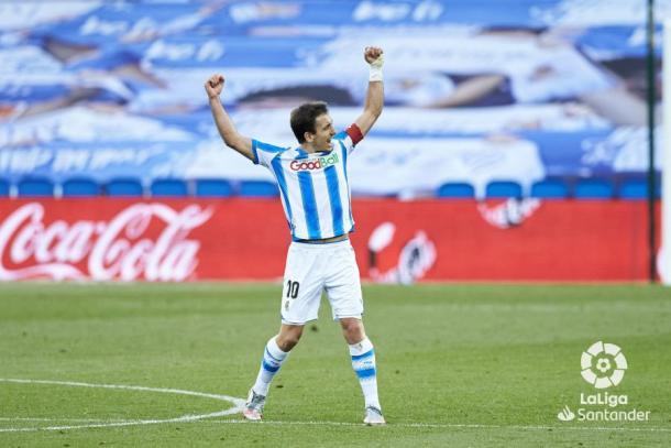 Mikel Oyarzabal consiguió un total de 10 goles y 11 asistencias la pasada campaña | Fuente: LaLiga