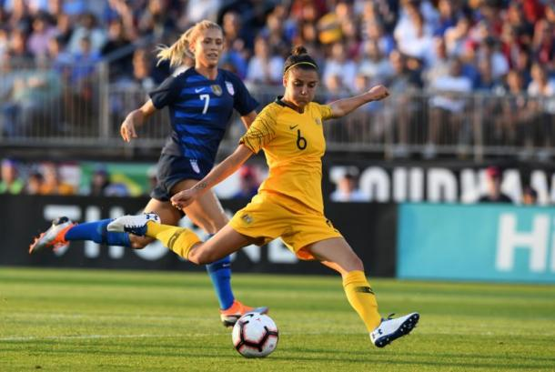 Australia always provide a tough test for the USWNT | Source: Getty Images