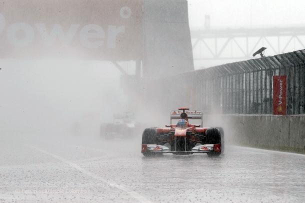 Fernando Alonso, Canadá 2011. Fuente: Ferrari/ Ercole Colombo