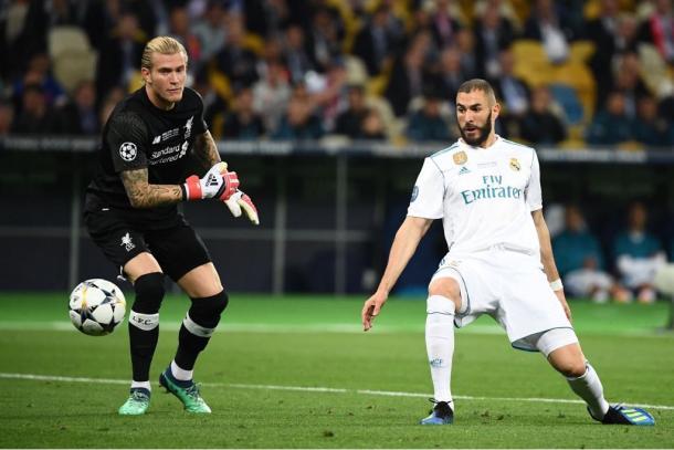 Karius no tuvo su mejor noche. Fuente: UEFA Champions League.