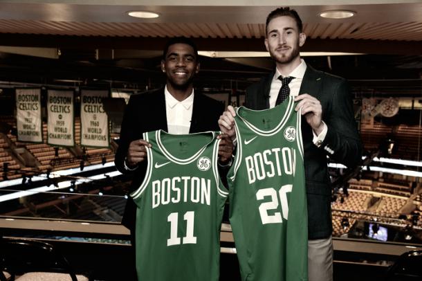 Irving y Hayward | Foto: NBA