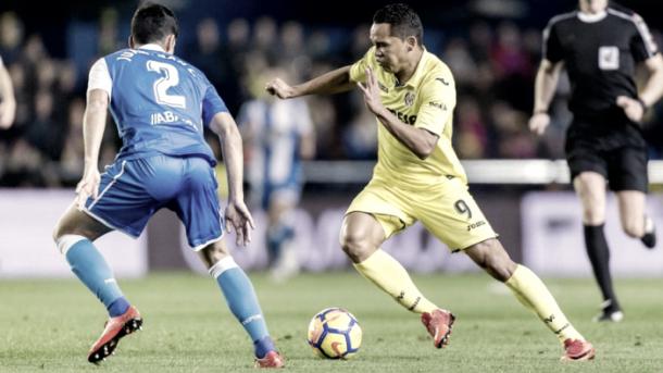 Carlos Bacca frente al Deportivo   Imagen: villarrealcf.es