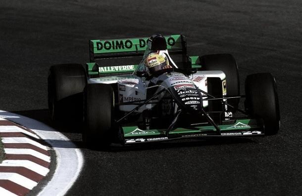Badoer en su minardi 1995. Foto:Lienhard Racing Fotografie