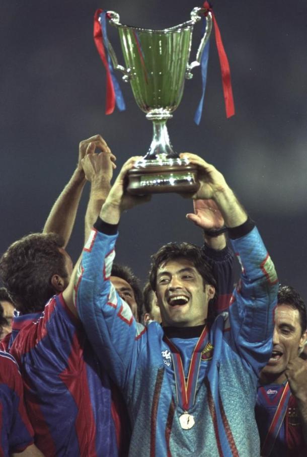 Vítor Baía con el FC Barcelona. Foto: UEFA