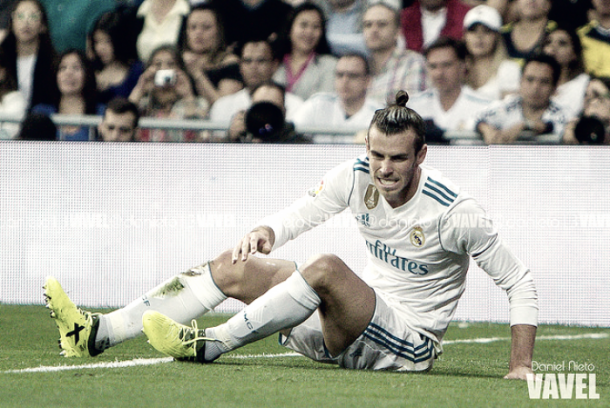 Bale se duele durante el partido frente al Betis. Fuente: Daniel Nieto VAVEL