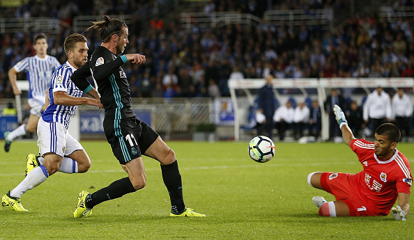 Momento do gol de Gareth Bale | Foto: Angel Martínez/Getty Images