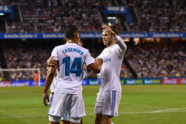 Casemiro e Bale marcaram os gols merengues na primeira etapa | Foto: Octavio Passos/Getty Images