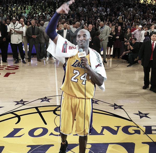 Al final de su último partido, Kobe se refirió a su experiencia en la franquicia californiana y agradeció, por sobre todas las cosas, el amor de todos sus aficionados.