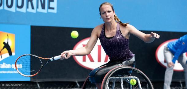 Jiske Griffioen da Holanda em ação no Australian Open/ Foto: Getty Images