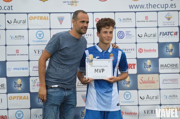 Enric Baquero MVP del partido   |   FOTO: Noelia Déniz