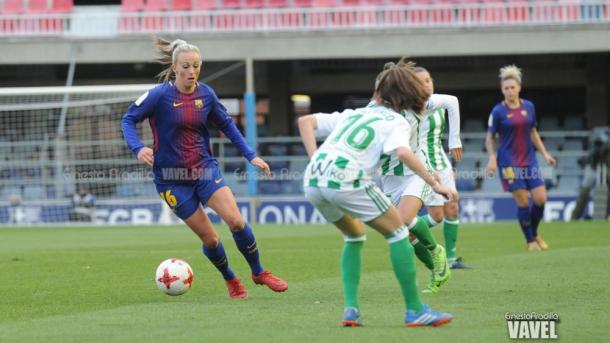 Duggan, que marcó por partida doble, ante Clau / Foto: Ernesto Aradilla (VAVEL.com)