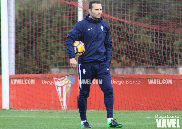 Rubén Baraja dirige un entrenamiento en Mareo | Imagen: LaLiga