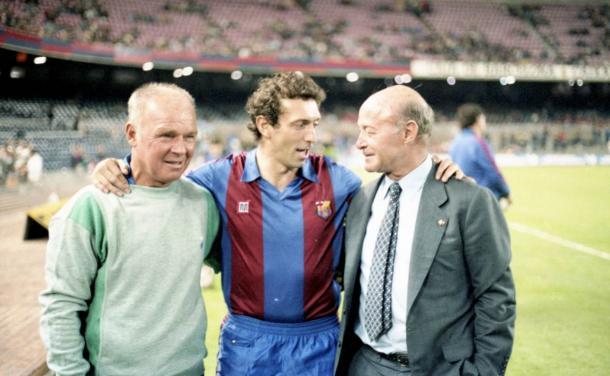 Quini, histórico jugador del Barcelona y de España en los años 10 y 80 | Foto: @FCBarcelona_es