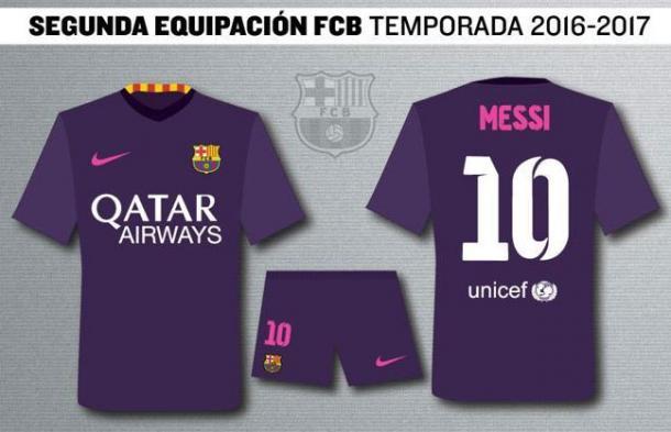 Será la primera vez que el Barça usa una camiseta de este color