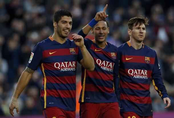 El tridente del Barcelona