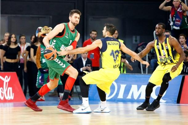 Andrea Bargnani, ala e centro del Baskonia che ha distrutto il Fenerbahce - Foto Euroleague.net