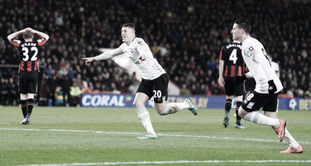 Ross Barkley celebrates his goal that gave Everton the advantage. | Image: Getty Images