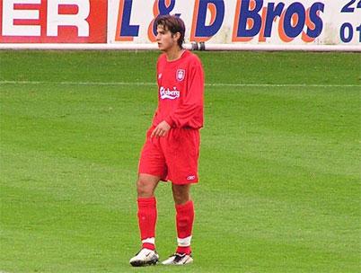Barragán debutando con el Liverpool. Foto: Liverpool FC