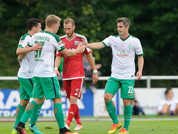 Fin Bartels after scoring against Ingolstadt. | Photo: Kicker/Imago