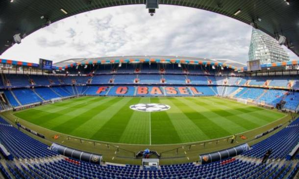 St. Jakob-Park, the host stadium for the final on Wednesday night. (Picture: Telegraph)