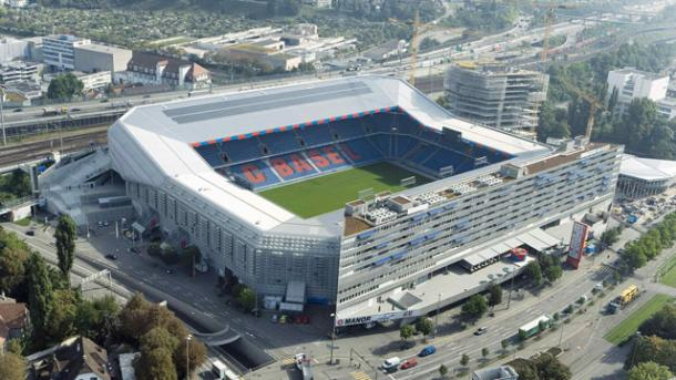 St. Jakob-Park, the arena for tonight's Europa League final | Photo: AP/Gaetan Bally