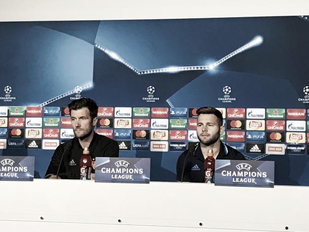 Wicky y Steffen en rueda de prensa   Foto: FC Basel