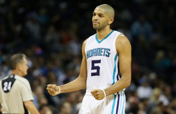 Nicolas Batum is set to have better days with his new contract with the Charlotte Hornets. Photo: Streeter Lecka/Getty Images North America