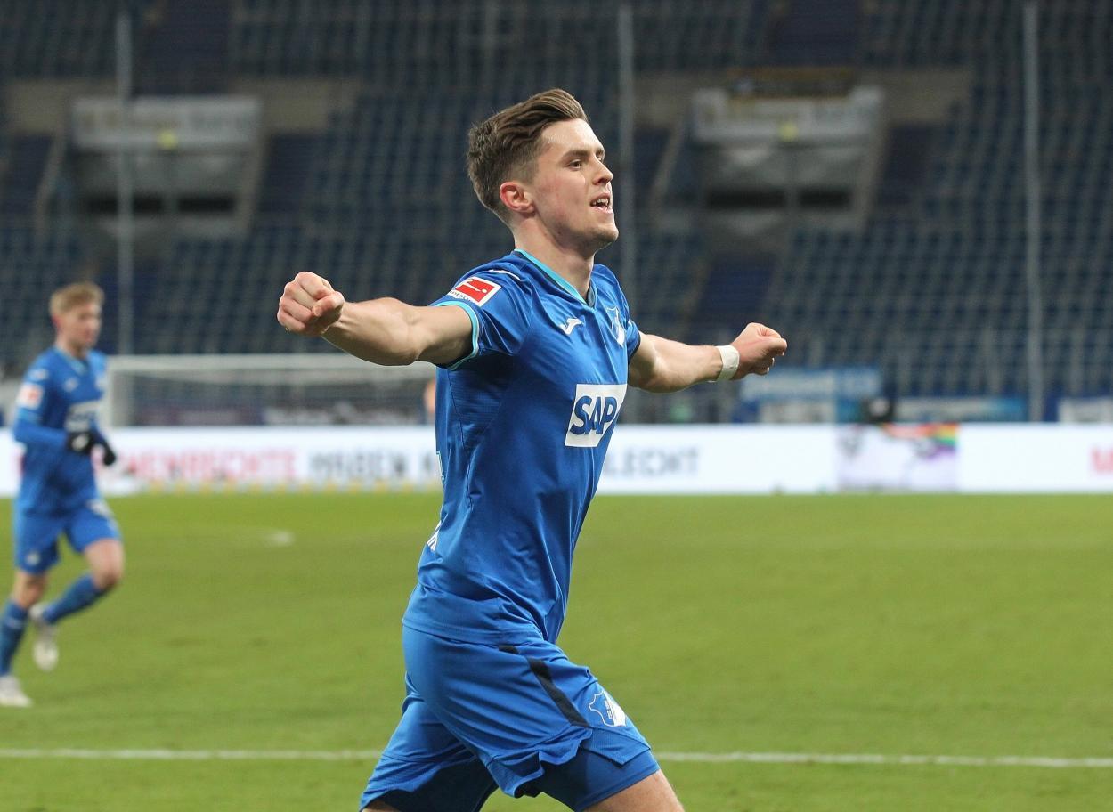 Baumgartner anotó el 2-0 con oportunismo / FOTO: @tsghoffenheim