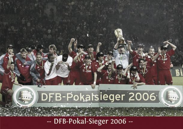 El Bayern campeón de DFB Pokal 2006. Foto: FussballLegenden