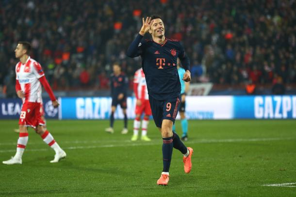 Robert Lewandowski no se cansa de convertir | Foto: @FCBayern