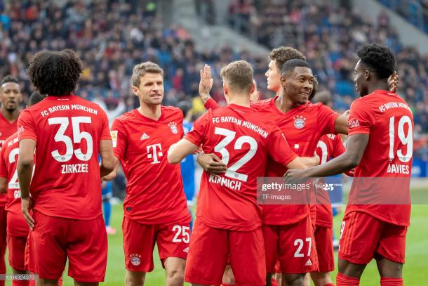 Bayern Munich players celebrating a goal | Photo: Getty Images