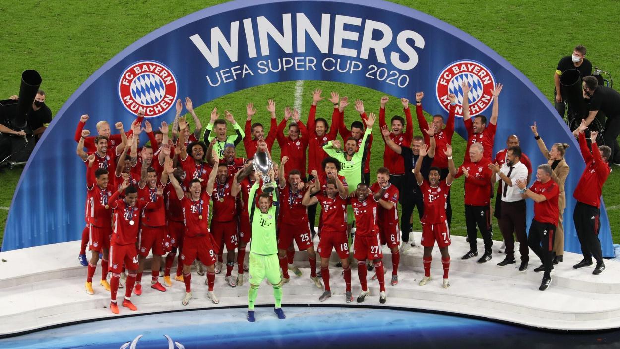 El Bayern levanta la Supercopa de Europa 2020. Fuente: UEFA