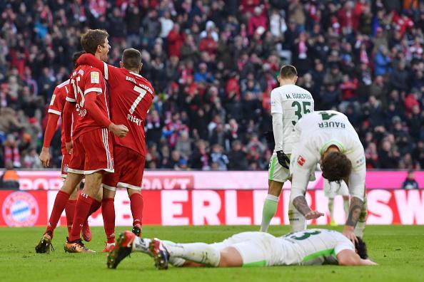 Müller marca o quarto gol (Sebastian Widmann/Bongarts/Getty Images)