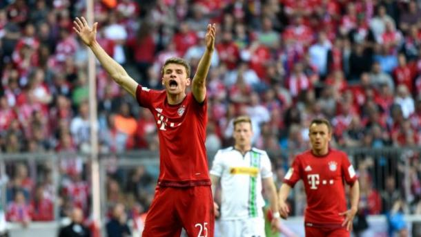 Thomas Muller lashes out during Bayern's frustrating draw | Photo: Getty Images