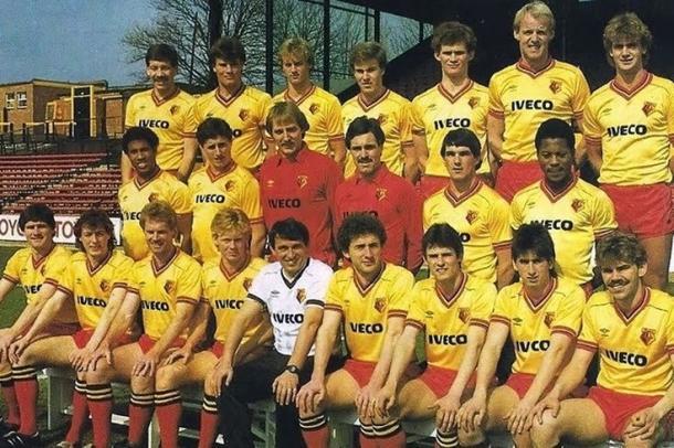 El Watford en los años 80. Fuente: Pinterest
