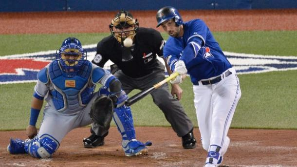Colabello in action with the Blue Jays. (Chris Young/CP)
