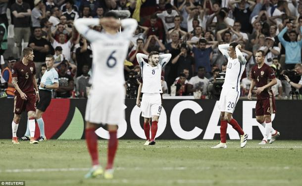 Another opening disappointment for the Three Lions l Photo: DailyMail.co.uk