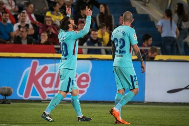 Messi comemora seu gol | Foto: Desiree Martin/Getty Images