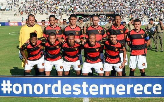 Leão disputou Copa do Nordeste 2014 sem fornecedor (Foto: Lino Sultanum / Sport Club do Recife)