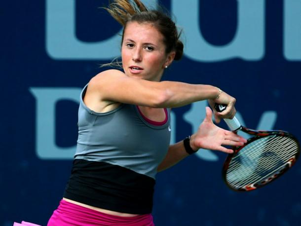 Annika Beck played well in the first set but the loss of it proved too much (Source: Sporting Life)