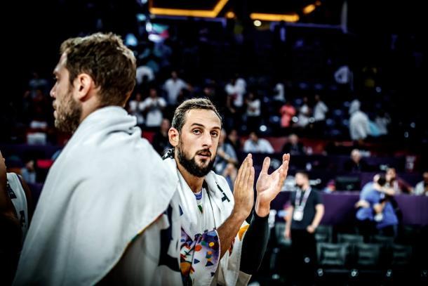 La delusione di Belinelli a fine gara - Foto FIBA