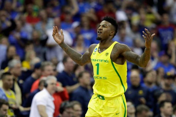 If Jordan Bell falls deep in the first round or drop down to the second round, teams will be pay the price for passing on him later on. Photo: Jamie Squire/Getty Images