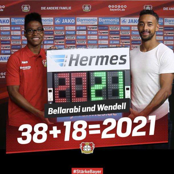 Wendell und Bellarabi weiterhin bei B04 / Quelle: bayerleverkusen